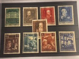 Austria Nº 732/3, 736/8, 794/7. Año 1948/51. - 1850-1918 Imperio
