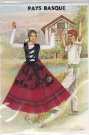 CPM; Pays Basque, Danseurs, Personnage Brodé Ou Tissé, Sous Cellophane,  Non écrite - Brodées