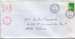 (vrac 24) Enveloppe CAD Manuel Et Complément Affranchissement Mécanique BPI 665 4.1.2003 - Cachets Militaires A Partir De 1900 (hors Guerres)