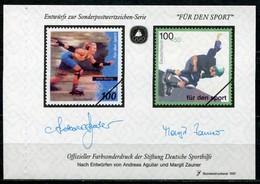 """Cinderella Vignette Deutsche Sporthilfe Entwürfe """"Für Den Sport"""" - Draft For Sports Series 1997 - Skateboard"""