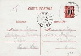 Entier Pétain Surchargé RF Avec Taxe - Marcophilie (Lettres)