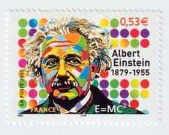 """Timbre  -  2005  - Cinquantenaire De La Mort  D' Albert Einstein   -   N °3779  -    """" E= Mc2""""     Neuf  Sans Charnière - Frankreich"""