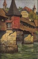 Artiste Cp Schlatter, E.E., Luzern Stadt Schweiz, Totentanzbrücke - Illustrators & Photographers