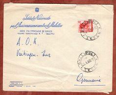 Vordruckbrief, EF, Gallipoli Nach Vaihingen 1966 (92112) - 6. 1946-.. Republik