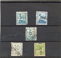 FRANCE  5 Timbres 1944 à 1960   Y&T: 4 , 13 ,24, 42 Et 45  B  Colis Postaux   Oblitérés - Oblitérés