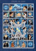 Faroe Islands - 2000 - Christmas - Christmas Seals - Holy Year 2000 - Mint Stamp Sheetlet - Faroe Islands