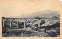 Ligne De Gap à Briançon (05) - Viaduc Et Route Du Thubaneau - Au Fond Pic De Chabrières - France