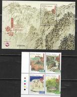 MACAO, 2019, MNH, MOUNTAINS AND RIVERS OF MACAO, 4v+S/SHEET - Other