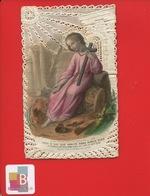 Superbe Image Pieuse Religieuse  Canivet Dentelle Bouasse Lebel  Enfant Vanité - Andachtsbilder