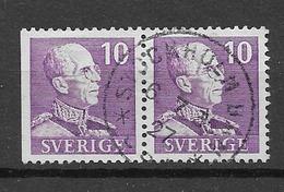 """1939 USED  Sweden Michel 256-I-DB Small """"10"""" - Suecia"""