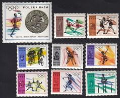 Poland / Olympic Games Mexico 1968 / Athletics, Boxing, Gymnastics, Cycling, Fencing, Basketball / MNH / Mi 1855-1863 - Zomer 1968: Mexico-City