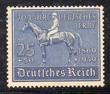 Y2098 - TERZO REICH 1939 , Unificato N. 636 Nuovo Senza Gomma (M2200) Derby Amburgo - Deutschland