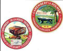 GF1553 - ETIQUETTES CAMEMBERT - DOLMEN MONCONTOUR VIENNE - CAMEMBERT ROCHE TREMBLANTE LA CAHPELLE LAUNAY - Fromage