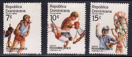 Dominican Republic 1983 / Panamerican Games / Basketball, Gymnastics, Boxing, Atletics, Cycling, Baseball, Weightlifting - Basket-ball
