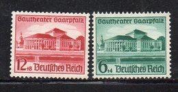 Y1764 - TERZO REICH 1938 , Unificato N. 614/615 *  Nuovo Linguella Forte (M2200) Saarbrucken - Deutschland