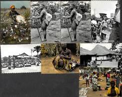 Congo D'aujourd'hui - Lot Of 8 Cartes Animée Colorisée (voir See Scans) - Ohne Zuordnung