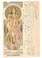 Mucha Champagne Moët & Chandon CPA Dos Non Divisé A Voyagé En 1909  Abîmée Au Bord Supérieur, Trous Et Déchirure - Mucha, Alphonse