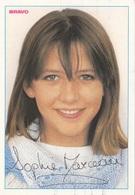 SOPHIE MARCEAU Bravo Autogramm Starkarte (Autogramme Gedruckt), Rückseitig Mit Beschreibung - Musica E Musicisti