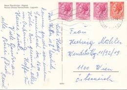 ITALIEN - 4 Fach Frankierung Auf Ak NUOVA CHIESA PARROCCHIALE - LAGUNDO - 6. 1946-.. Republic