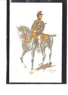 Costume Militaires Belges - Belgische Militaire Uniformen -  Chasseurs à Cheval - Tenue De Campagne 1914 - Uniformes