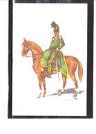 Costume Militaires Belges - Belgische Militaire Uniformen - 1er Chasseurs à Cheval - Capitaine 1838 - Uniformes
