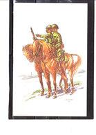 Costume Militaires Belges - Belgische Militaire Uniformen - 1er Chasseurs à Cheval - Lieutenant Et Cavalier 1918 - Uniformes