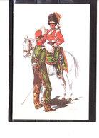 Costume Militaires Belges - Belgische Militaire Uniformen - 2éme Chasseurs à Cheval - Trompette Et Cavalier 1833 - Uniformes