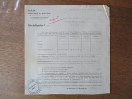 LE CATEAU LE 18 DECEMBRE 1943 DIRECTION DU ROULAGE DE CAMBRAI (FAHRBEREITSCHAFTS) ORDRE DE REQUISITION N°991 MONSIEUR LE - Documents Historiques
