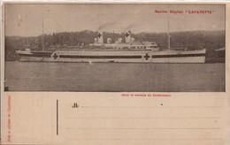 Navire Hôpital Lafayette - Rare Carte Franchise 1917 - CPFM Marine Navale - Croix-rouge - 2 Scans - Poststempel (Briefe)
