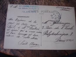 Paray Le Monial Hopital Temporaire 34 Cachet  Franchise Postale Militaire Guerre 14.18 - Guerre De 1914-18