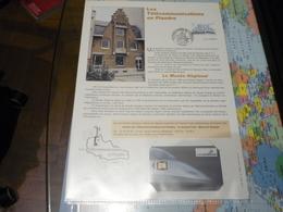 Document Les Télécommunications En Flandre Avec Oblitération Premier Jour Timbre Lille N°2811 Et Signature Du Graveur - Postdokumente