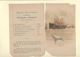 Ancien Menu HAMBURG - AMERIKA LINIE De 1901 - Menus