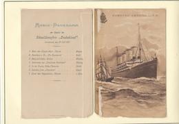 Ancien Menu HAMBURG - AMERIKA LINIE De 1901Ancien Menu HAMBURG - AMERIKA LINIE De 1901 - Menus