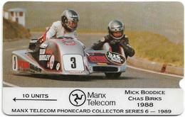 Isle Of Man - GPT - TT Racers 1988 - Boddice, Birks - 3IOMB - 1989, 6.000ex, Used - Man (Ile De)