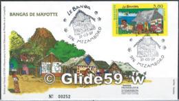 FDC Mayotte (enveloppe) - 31-05-1997 Mtzamboro - Y & T N° 45 - Bangas De Mayotte N° 00252 - 1990-1999