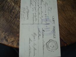 Poudrerie Nationale Angouleme  Cachet  Franchise Postale Militaire Guerre 14.18 - Marcofilie (Brieven)
