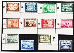 RAD33 DEUTSCHES REICH 1939  MICHL 702/13 ** Postfrisch ZÄHNUNG Siehe ABBILDUNG - Deutschland
