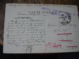 Carcassone Hopital Complementaire 5 Cachet  Franchise Postale Militaire Guerre 14.18 - Marcofilie (Brieven)