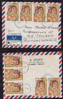 Türkei Turkey 1972 Registered Cover 9x 100KR Persian Mosaik TAKSIM To FELLBACH Germany - Brieven En Documenten
