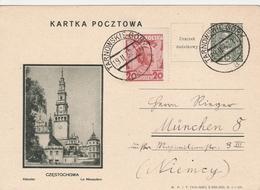 Pologne  Entier Postal Illustré Pour L'Allemagne 1933 - Entiers Postaux