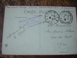 Toilouse Hopital Complementaire 58 A   Cachet Franchise Postale Guerre 14.18 - Marcofilie (Brieven)