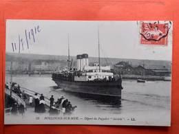 """CPA (62) Boulogne Sur Mer.Départ Du Paquebot  """"INVICTA""""  (N.1245) - Boulogne Sur Mer"""