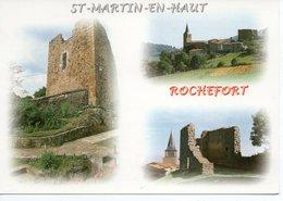 SAINT MARTIN EN HAUT - DONJON DU CHÂTEAU DE ROCHEFORT - Andere Gemeenten