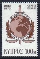 Cyprus 1973 / 50th Ann. Interpol – International Criminal Police Organization / MNH / Mi 400 - Police - Gendarmerie