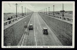 Panorama Postkaart Antwerpen Uitgang Tunnel Linkeroever 1938 Verstuurd - Antwerpen