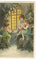 K 184, OLD FANTASY  POSTCARD  , CHILDREN , FINE ART , GREETINGS - Enfants