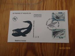 Enveloppe 1er Jour Saint-Pierre Et Miquelon Baleine à Bosse 28 Janvier 2000 - FDC