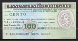518-Brescia Banca San Paolo Billets De 100 Et 150 Lire 1976 Neufs - [ 4] Emissions Provisionelles