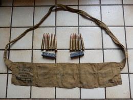 Cartouchiere D Allegement Plus 2 Clips De 5cps 303 Pour Lee Enfield 1943 Armée Britanique - Decorative Weapons