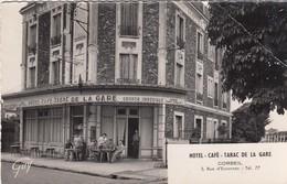 CORBEIL-HOTEL-CAFè-=TABAC DE LA GARE=-CARTOLINA VERA FOTOGRAFIA- VIAGGIATA IL 17-9-1956 - Corbeil Essonnes